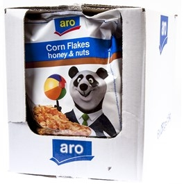 ARO Cornflakes Honey/Peanut 250g