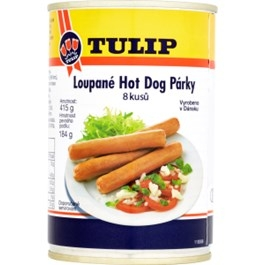 Tulip Hot dog párky 415g