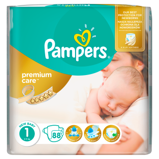 Pampers Premium Value Pack New Baby S1 pleny 88ks