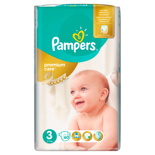 Pampers Premium Value Pack Midi S3 pleny 60ks