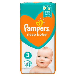Pampers Sleep&Play Midi S3 pleny 58ks