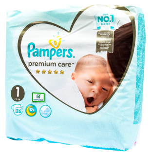 Pampers Premium Small Pack New Baby S1 pleny 22ks