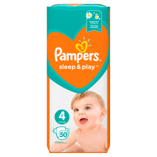 Pampers Sleep&Play Maxi S4 pleny 50ks