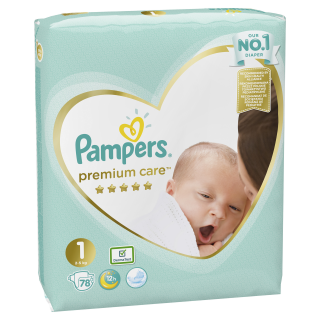 Pampers Premium Value Pack New Baby S1 pleny 78ks