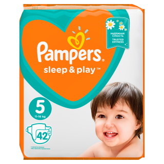 Pampers Sleep&Play Junior S5 pleny 42ks