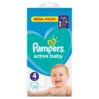 Pampers Active Baby Maxi S4 pleny 132ks