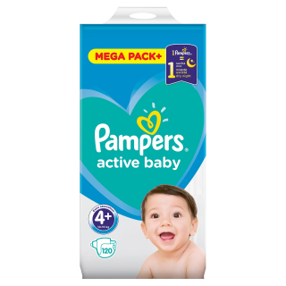 Pampers Active Baby Maxi S4 pleny 120ks