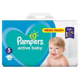 Pampers Active Baby Junior S5 pleny 110ks