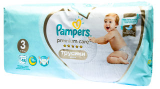 Pampers Premium Pants Value Pack Midi S3 plenkové kalhotky 48ks