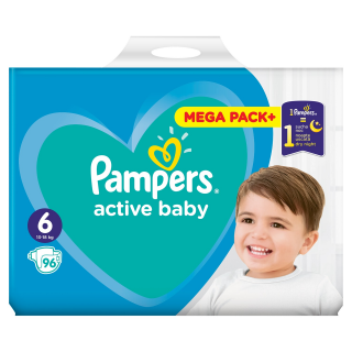 Pampers Active Baby Extra Large S6 pleny 96ks